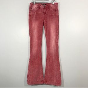 Dear John | Red Light Wash Wide Flare Pants
